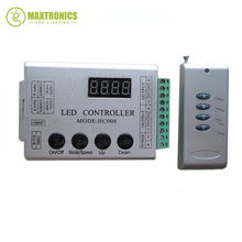 DC12V 4Keys HC008 programmable rgb led pixel controller,control 2048 pixel,133 effect modes,ws2811controller(China)