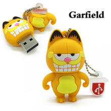 Hot Sale Garfield Cartoons USB Flash Drive Pendrive 4GB 8GB 16GB USB Stick External Memory Storage Pen Drive Wholesale Cartoon