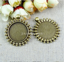(A2284) 30pcs/bag size 41*36mm fitting 25mm  bronze Point zakka Antique diy pendant Jewelry findings for chain  accessories