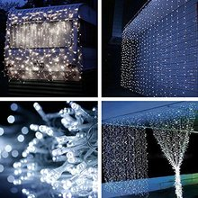 3*1M 160LED christmas outdoor decoration curtain icicle string led lights 220V Garden Xmas Wedding Party free shipping xx led(China)