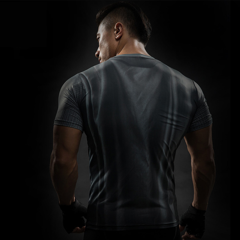 MMA Short Sleeve 3D T Shirt Men T-Shirt Crossfit Tops Punisher Crossfit Funny Superman tshirt Fitness Compression Shirt Tee 4XL 43
