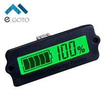 12V LY6W Lead Acid Battery Capacity Indicator LCD Digital Display Meter LiPo Battery Capacity Power Detection Tester Voltmeter(China)