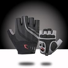 New 2018 Pro Team Cycling Gloves Gel Half Finger Bicycle Gloves Summer Shockproof Outdoor Sports Gloves MTB Bike Gloves Black