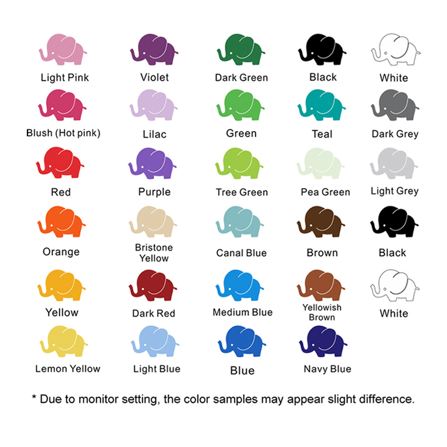 9 Stickers - Color chart