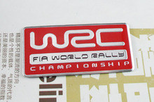 Auto car Aluminum red WRC World Rally Championship Emblem Decal Badge Sticker