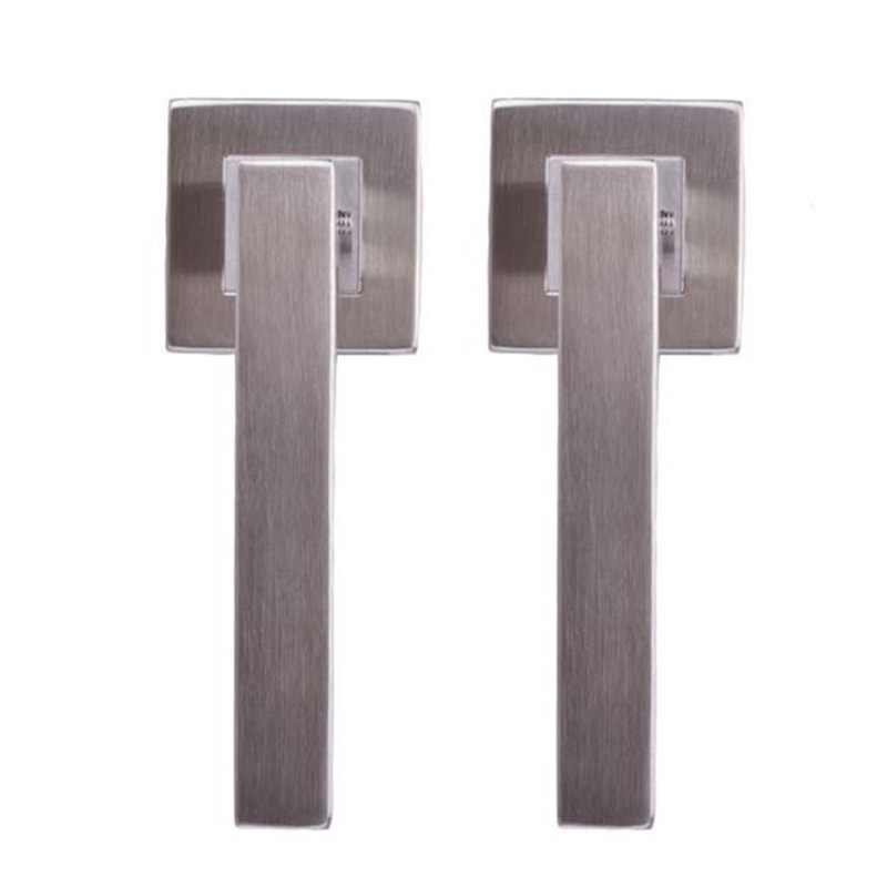 Free shiping high class hot sell stainless steel 304 square tube door handle lock lever handle door lock hollow handle KF191<br><br>Aliexpress