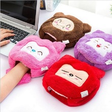 Hot Cute Home Office Winter Plush Warm Mouse Pad Laptop Wrist Rest Mice Pad USB Warm Hand Mice Mat Detachable Heating Element