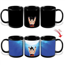 2017 Drop shipping Changing Color Mugs Dragon Ball Z Mug SON Goku Heat Reactive Ceramic Super Saiyan Coffee Cups Taza Goku Cup(China)