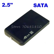 "Slim 2.5"" SATA HDD USB 2.0 External Box Hard Disk Driver Enclosure Case+Bag  Drop Shipping"