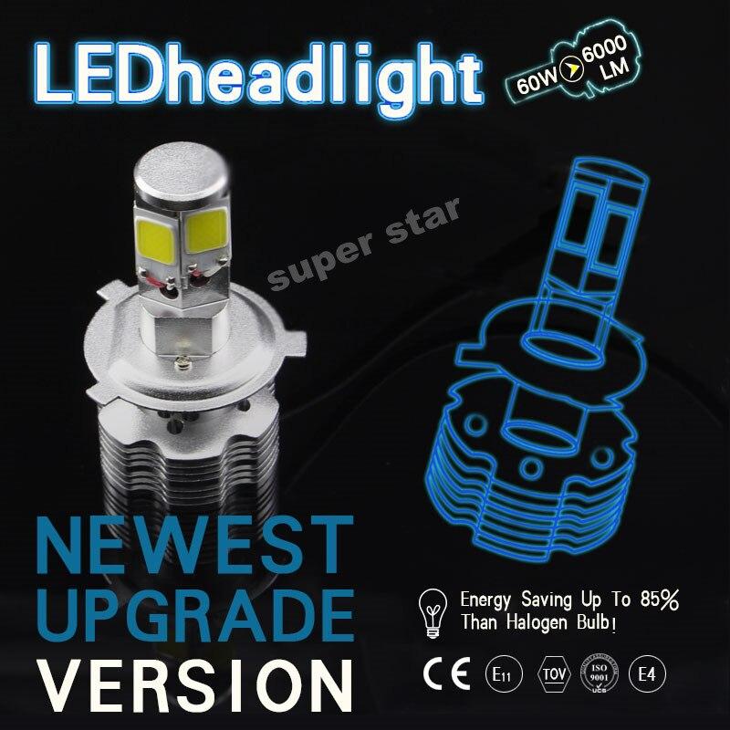 2X Newest  6000k White  H4 9003 HB2  High Low Beam  Car  Led Headlight  Kit  Head Lamp 120W 12000LM  Fog Light Bulb  12V-24V<br><br>Aliexpress