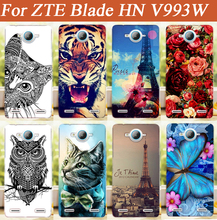 HOT ! New Popular Case For ZTE BLADE HN V993W Luxury Painting Colors Butterfly Stylish For ZTE Blade HN v993w case cover Holder