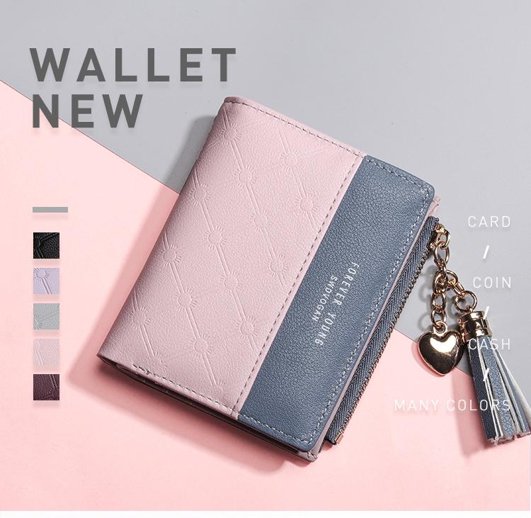PU Leather,wallet female,wallet female women zipper,Fashion,Casual,Vintage,Black,Red,Brown,Blue,Pink wallet female leather (1)