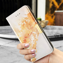 for Xiaomi Redmi Note4 Phone Cover Marble Texture Leather Wallet Flip Phone Case for Xiaomi Redmi Note 4 - Brown