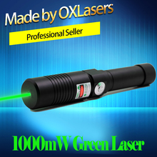 OXLasers OX-GX9 520nm(NOT 532nm) 1000mw 1W Focusable Green laser pointer the Brightest Burning Laser Light Cigar  free shipping