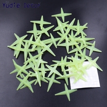 50Pcs Shining star Energy Storage Fluorescent Glow In The Dark Christmas Kids Bedroom Wall Stickers Baby Rooms Home Decoration