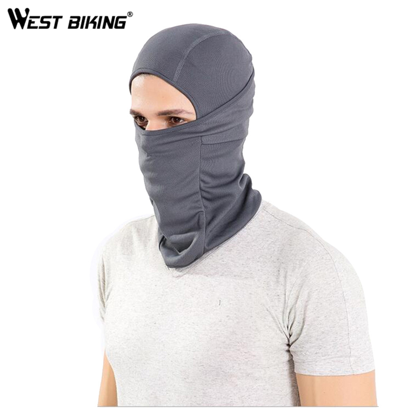 WEST BIKING Cycling Mask Super Elastic Quick Drying Moisture Permeability Cycling Mask Headgear Sun Protection Bicycle Cap(China)