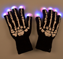20PCS LED Gloves Rave Light Flashing Finger Lighting Glow Mittens Magic Black Glove Party Pub Birthday Halloween Party Holiday(China)