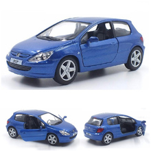 Brand New 1/32 Scale France Peugeot 307 Diecast Metal Car Model Toys With Pull Back Car Toy For Kids Birthday Gifts Collection(China)