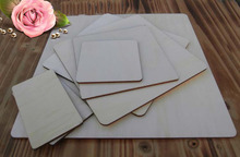 30/20/10/8/6/5/2/cm.Square board Wood blank tags. Indicate products. DIY tips label.baby intellectual toys  017010006