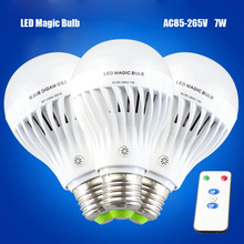 Emergency Lamp 7W E27 with Remote controller Dimmable led bulb 85-265V Rechargeable LED Magic bulbs cheap