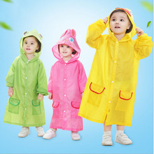 Waterproof Animal Poncho Raincoat Funny Cartoon Rain Coat Wear Suit Rainwear Rainsuit Raincoats for Boy Girl Kids Children(China)