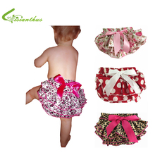Baby Ruffle Bloomers Layers Baby Diaper Cover Newborn Flower Shorts with Skirts Toddler Cute Summer Satin Pants Free Drop Ship(China)