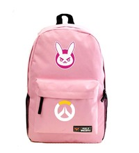 Hot pink DVA backpack  DVA OW Fans backpacks hana song I PLAY TO WIN pink backpacks for game fans NB016