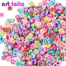 Artlalic 1000pcs/Bag 3D Tiny Cute Nails Art Accessories Star/Ribbon/Flower/Fruit/Feather Fimo Slices Slicing Nail Decorations(China)