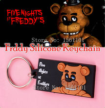 Newest  FNAF Five Nights At Freddy's Toys Models MC Backpac Freddy Keychain Toy Top Quality Silicone Brinquedos Gift Party Gift