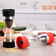 2 in 1 Manual Pepper Shaker Salt Spice Mills Grinder Hourglass Design Creative Tools with Stainless Steel Kitchen Accessories