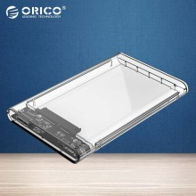 ORICO Transparent HDD Case 2.5 inch USB3.0 to Sata 3.0 Tool Free 5 Gbps Support 2TB UASP Protocol Hard Drive Enclosure(2139U3)