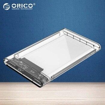 ORICO Transparent HDD Case 2.5 inch USB3.0 to Sata 3.0 Tool Free 5 Gbps Support 2TB UASP Protocol Hard Drive Enclosure(2139U3)