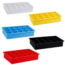 15-Cavity Large Silicone Drink Ice Cube Pudding Jelly Soap Mold Mould Tray Tool
