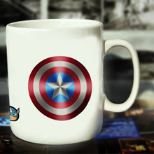 New Captain America Ceramic Coffee Mug White Color Or Color Changed Cup Star Shield ---Loveful