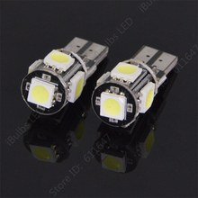 2PCS Best Price T10 501 194 168 W5W Canbus No Error 5050 LED 5 SMD Ice Blue Car Auto Side Wedge Parking Light Bulb Lamp DC12V