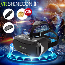 VR SHINECON 2.0 New Google Cardboard 3D Virtual Reality Glasses VR Box for 4.7-6.0 inch xiaomi redmi 4 pro Android iPhone Phone