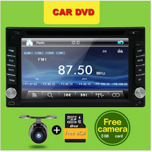 "Universal 2Din 6.2"" In Dash Car DVD Player Radio Auto GPS/FM/USB/SD/Bluetooth/ HD digital touch screen full popular function CAM"