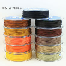 0.8mm Nylon Cord Thread Chinese Knot Macrame Cord Bracelet Braided String DIY Tassels Beading 25m/roll No17~35(China)