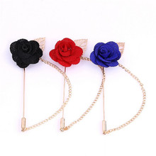 Men Jewelry of Silk Flower Brooches Rose Cluster Floral Men Lapel Pins for Suits Handmade Boutonniere Mixed Brooch