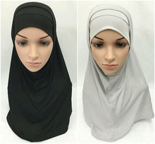 2 Piece Fashion Modal Cotton Muslim Head Coverings Amira Hijab Islamic Scarf Islamic Shawls Headwear