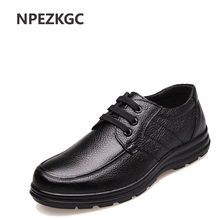 NPEZKGC Genuine leather men casual shoes,handmade fashion comfortable breathable men shoes comfortable casual shoes(China)
