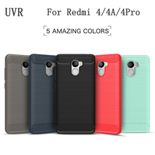 UVR For Xiaomi Redmi 4 Pro Case For Redmi 4A Cover Back 4 Prime Fundas Silicone Carbon Fiber Brushed TPU Mobile Phone Cases(China)