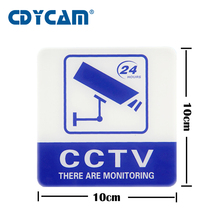 2pcs Sticker Warning Decal Signs Waterproof for Home and Outdoor CCTV Surveillance Security Camera and Store monitoring warning(China)