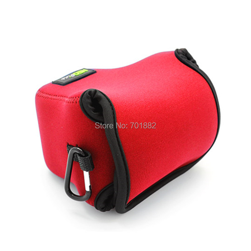 Neopine Camera lens bag for Canon EOS M50 red (4)