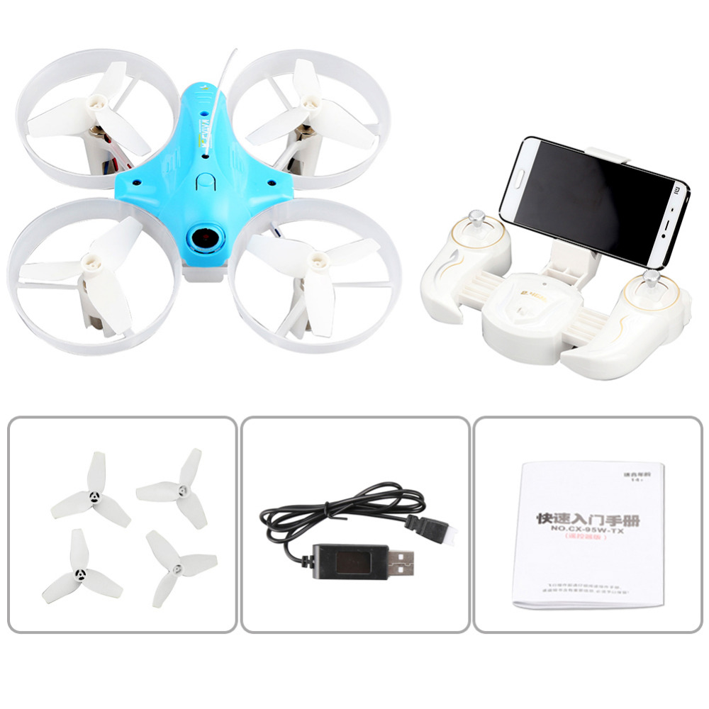 CHEERSON CX-95W Rc Helicopters Pocket Drone Wifi Control FPV With Camera 4 Channel 6 Asix Mini Quadcopter with Wifi Control