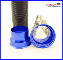 Blue Color Car Multi Flexible Extensible Cold Air Intake Inlet Pipe Tube Hose
