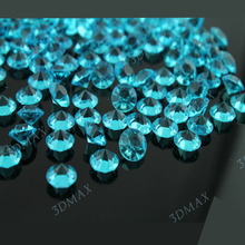Free Shipping 1000 Turquoise  Diamond Confetti 2 Carat Wedding Banquet Table Decor Supply Professional Many Popular Colors