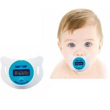 Practical  Digital LCD Pacifier Baby Infants Nipple Thermometer For Kids Soft Safe Mouth Thermometer Celiuse