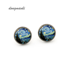 MZ0202 VAN gogh starry night earring starry night jewelry Artistic impression earring jewelry accessories(China)