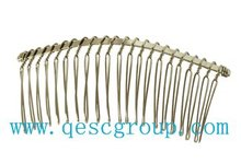 8cm Metal wire comb/hair band for sinamay fascinator in wholesale price,100pcs/lot,silver color,FREE SHIPPING